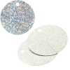 Sequins Hologram 40mm 4mm Hole Round Silver